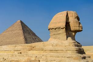 スフィンクスとピラミッドの写真素材 [FYI02039835]