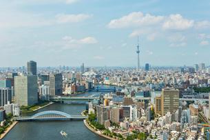 隅田川とスカイツリーの写真素材 [FYI02039935]