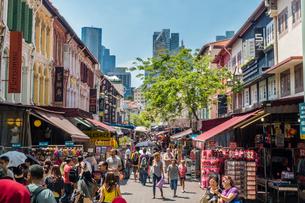 シンガポールのチャイナタウンの写真素材 [FYI02041001]