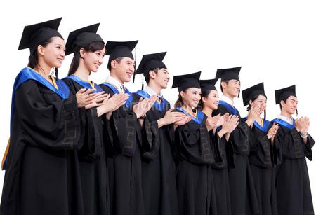 卒業式を迎えた学生の写真素材 [FYI02041515]