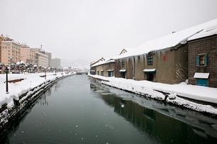 冬の小樽運河の写真素材 [FYI02042437]