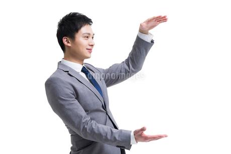 両手を上げるビジネスマンの写真素材 [FYI02042740]
