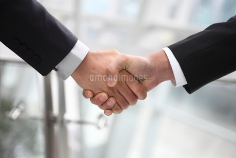 握手をするビジネスマンの手の写真素材 [FYI02043768]