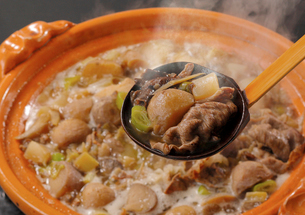 山形県郷土料理 芋煮の写真素材 [FYI02043963]