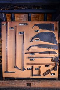 古い農工具の写真素材 [FYI02044891]