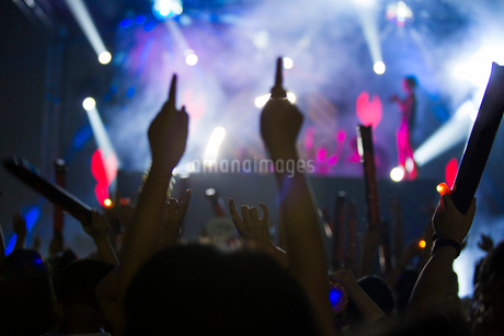 コンサートを楽しむ人々の写真素材 [FYI02046170]