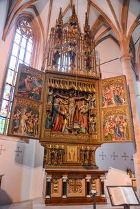 ハルシュタットの教会の写真素材 [FYI02046352]