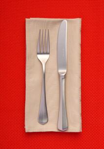 ナイフとフォークの写真素材 [FYI02047333]