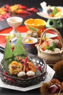 秋の味覚の日本料理の写真素材 [FYI02047979]