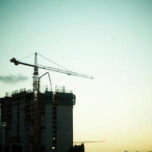 建設中のビルの写真素材 [FYI02049067]