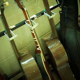 並んだ弦楽器の写真素材 [FYI02050104]
