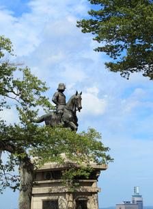 伊達政宗騎馬像 宮城県の写真素材 [FYI02050260]