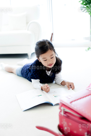 宿題をする女の子の写真素材 [FYI02050807]