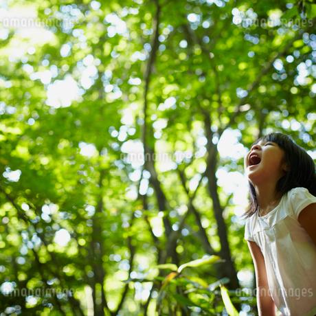 口を開ける女の子の写真素材 [FYI02050869]