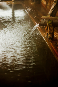 温泉の湯口の写真素材 [FYI02050948]