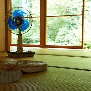 和室の扇風機の写真素材 [FYI02051832]