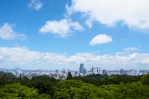 仙台市全景 宮城県の写真素材 [FYI02052014]