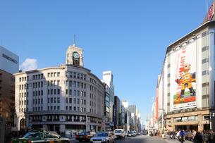 銀座の街並み 東京都の写真素材 [FYI02052221]