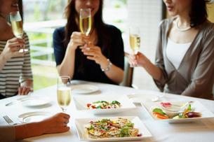 レストランで女子会をする女性達の写真素材 [FYI02052271]