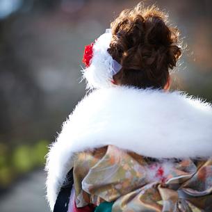振袖姿の女性の後ろ姿の写真素材 [FYI02053216]