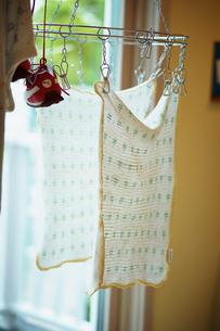 部屋の中の洗濯物の写真素材 [FYI02053311]