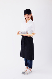 カフェの店員の写真素材 [FYI02054059]