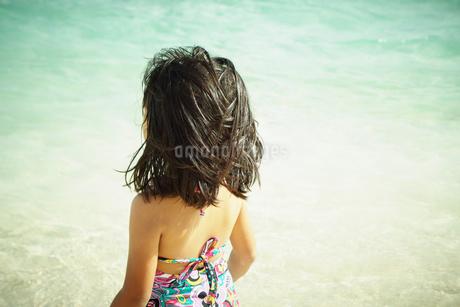 水着姿の女の子の後姿の写真素材 [FYI02054315]