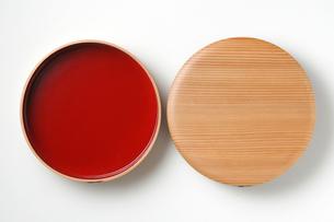 曲げわっぱ 漆菓子器 秋田県の写真素材 [FYI02054349]