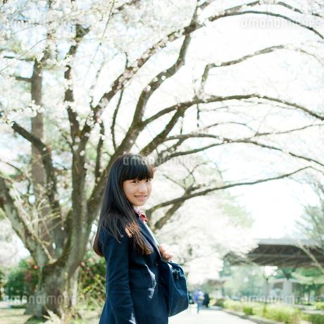 笑顔の女子中学生の写真素材 [FYI02055756]
