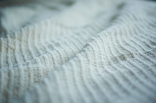 白いブランケットの写真素材 [FYI02056302]