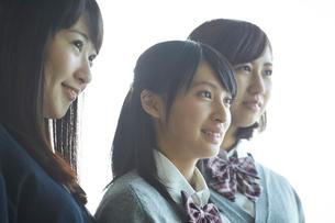 3人の女子学生の写真素材 [FYI02056802]