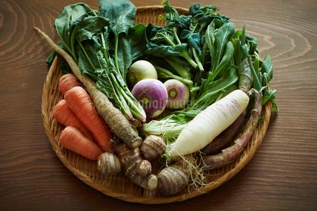 無農薬野菜盛り合わせの写真素材 [FYI02058240]