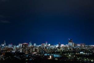 仙台市街の夜景 宮城県の写真素材 [FYI02059324]