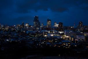 仙台市街の夜景 宮城県の写真素材 [FYI02059533]