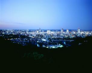 仙台市街地夜景の写真素材 [FYI02059930]