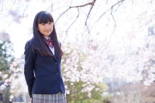 女子中学生のポートレートの写真素材 [FYI02060137]