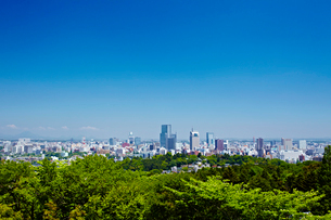 大年寺山から見た仙台市全景 宮城県の写真素材 [FYI02060502]