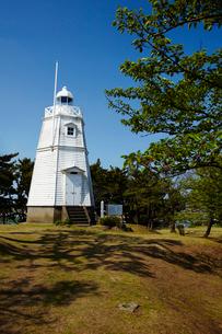日和山公園の木造六角灯台 山形県の写真素材 [FYI02060828]