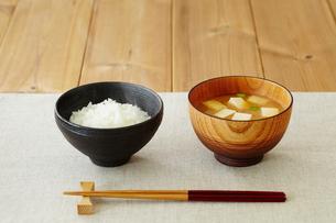 ご飯と味噌汁の写真素材 [FYI02060967]