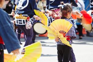 青葉まつりのすずめ踊り 宮城県の写真素材 [FYI02060987]