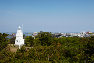 日和山公園の木造六角灯台 山形県の写真素材 [FYI02060998]