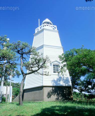 日和山公園の木造六角灯台の写真素材 [FYI02061016]