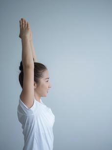 ヨガをする女性の写真素材 [FYI02061023]