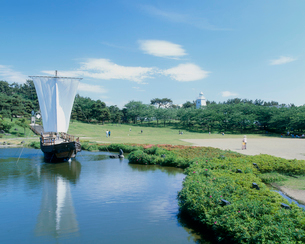 日和山公園 山形県の写真素材 [FYI02061029]