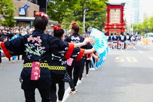 青葉まつりのすずめ踊り 宮城県の写真素材 [FYI02061104]