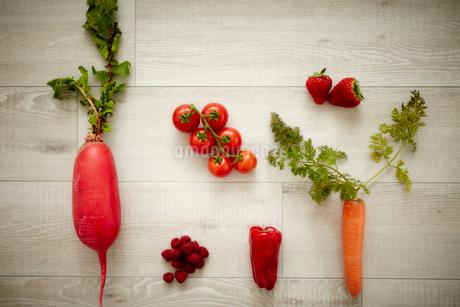 赤い野菜と果物の写真素材 [FYI02061259]