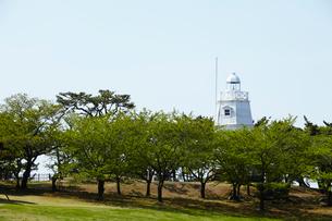 日和山公園の木造六角灯台 山形県の写真素材 [FYI02061337]