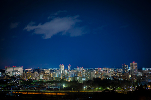 仙台市街の夜景 宮城県の写真素材 [FYI02061394]