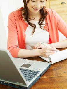 ホームオフィスの女性の写真素材 [FYI02061491]