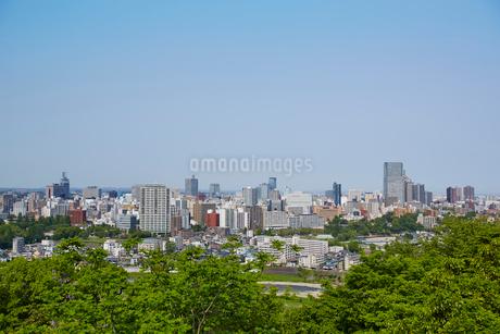 青葉山から望む仙台市街並み 宮城県の写真素材 [FYI02061558]